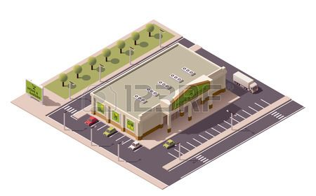 Vector Isometric Shopping Mall Building Icon Royalty Free Cliparts, Vectors, And Stock Illustration. Image 42146592.