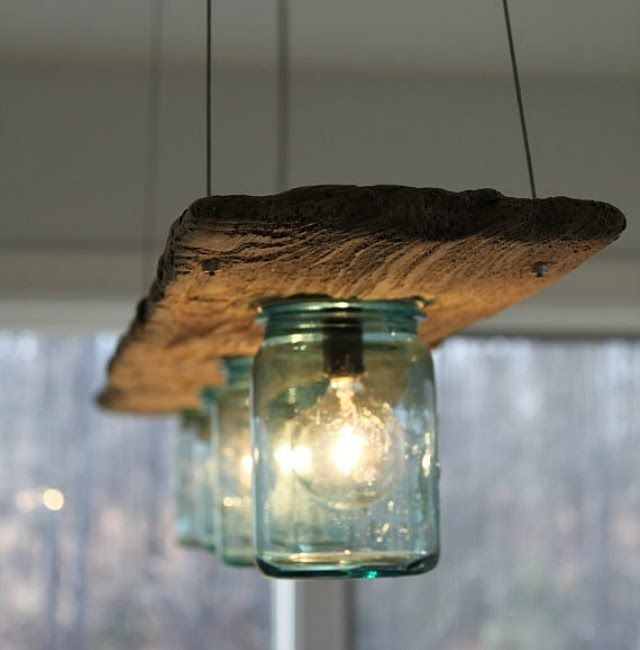 10 Light Diy Mason Jar Chandelier Rustic Cedar Rustic Wood: DIY : 10 Lampes Originales Faciles à Fabriquer !