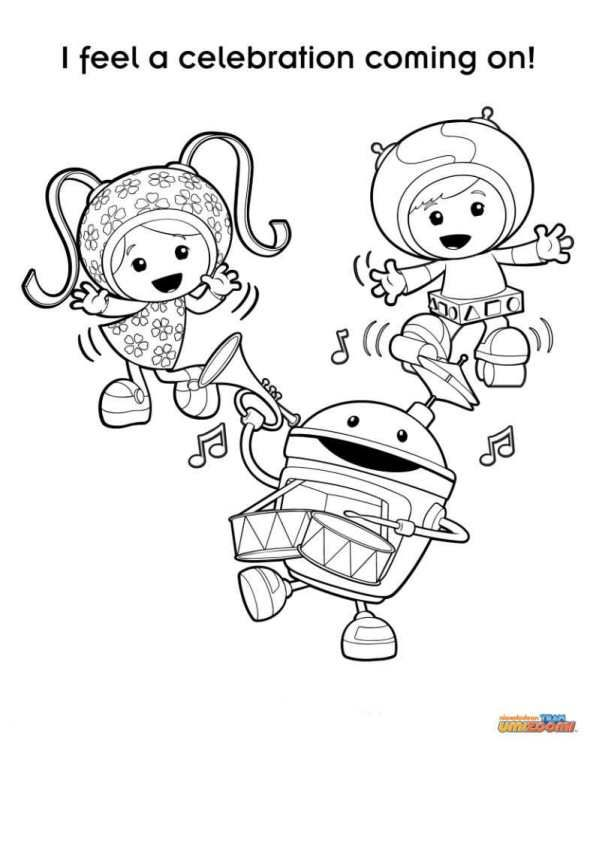 coloring page team umizoomi - Team Umizoomi | 3rd birthday ...