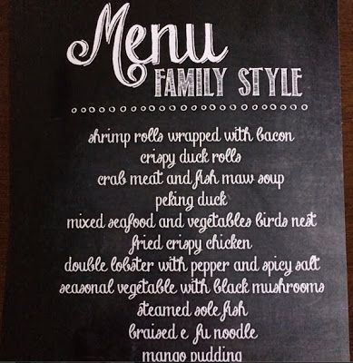 Wedding family style menu design | CBGB Theme | Pinterest | Menu ...