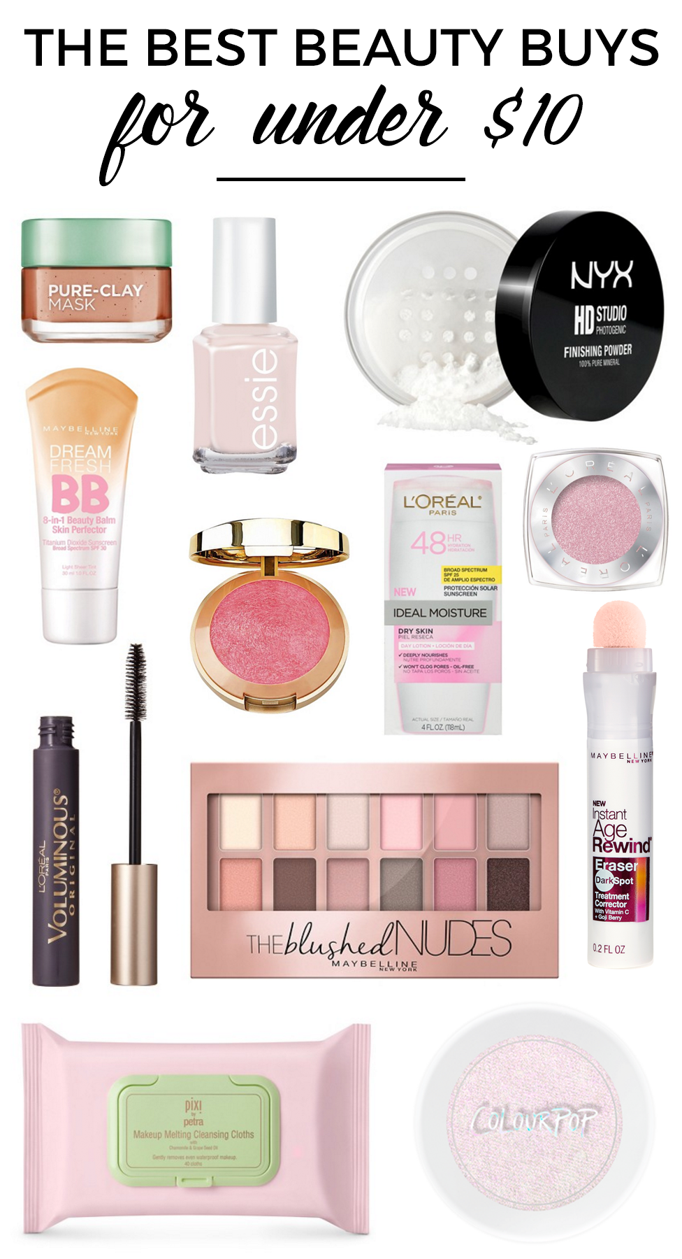 Affordable Beauty Buys Under 10 Best makeup products
