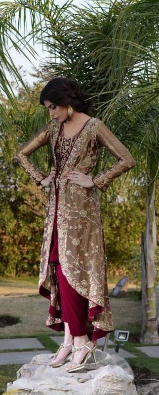 High low Kurta with Palazzos- indian wedding outfit