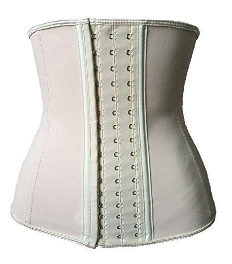 e9d1b217ea FIRM ABS Women s Latex Sport Girdle Waist Training Corset Waist Body Shaper  at Amazon Women s Clothing store