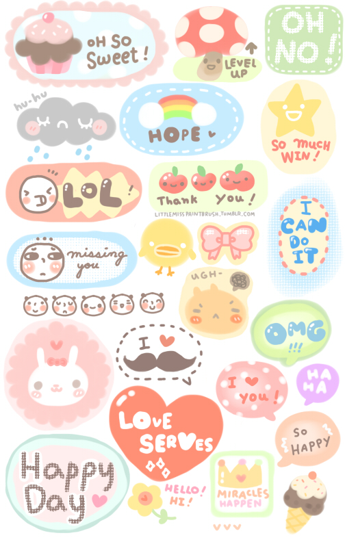 Adorable image within cute printable stickers