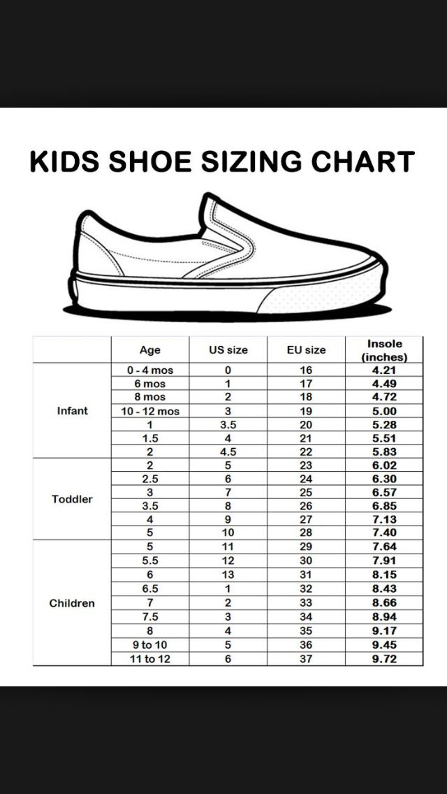 also vans kids size chart   come and stroll rh frankndgaard
