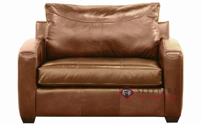 Savvy Boulder Leather Sleeper Sofa in Durango Acorn (Chair) at ...