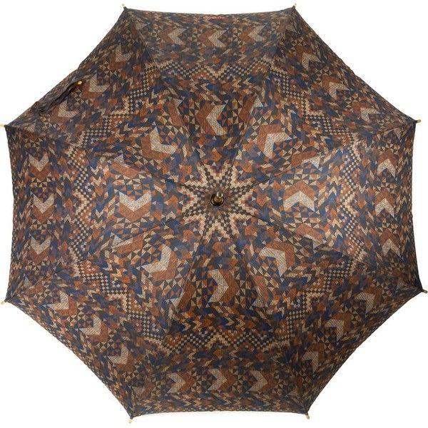 Missoni Vintage Geometric Print Umbrella (135 CAD) ❤ liked on Polyvore featuring accessories, umbrellas, colorful umbrellas, multicolor umbrella, missoni umbrella, missoni and vintage umbrella