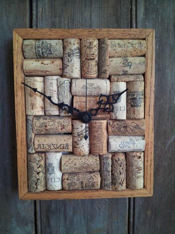 Basteln mit Korken eine Wanduhr machen | Crafts | Cork | Pinterest ...