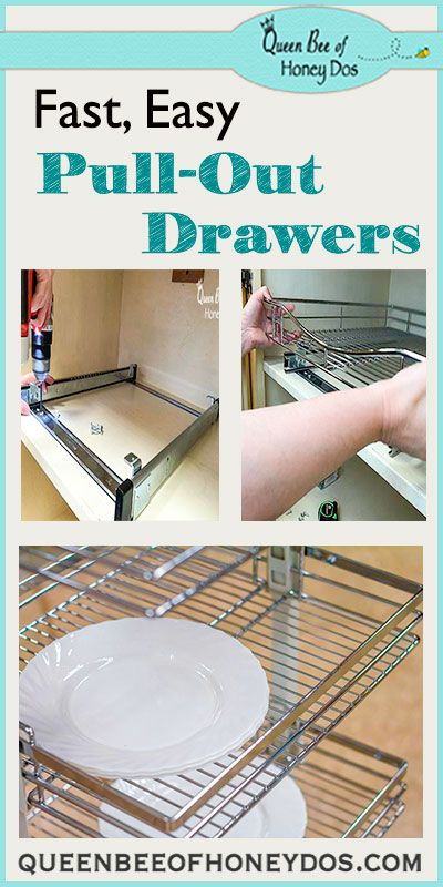 Easy Way to Add Pull-Out Drawers to Bottom Cabinets | Pull ...