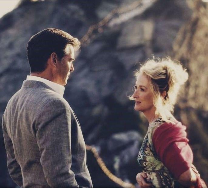 The Secrets Of The Castle — Meryl Streep andPierce Brosnan in Mamma Mia!... #mommamia