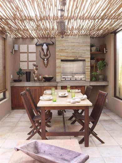Designing A Stylish Boma Built In Braai Home Decor