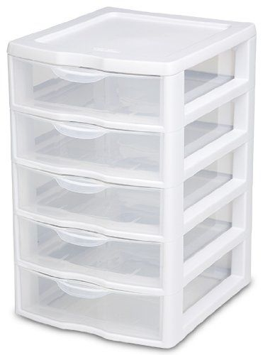 Easy And Cheap Plastic Storage Drawers Plastic Storage Drawers Amazon Com Sterilite 20758004 Plastic Storage Drawers Small Wardrobe Storage Ideas Drawer Unit
