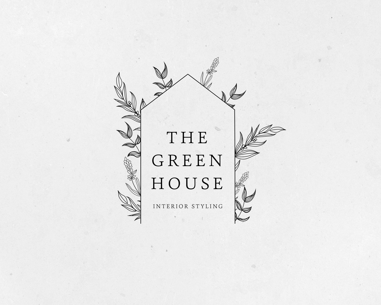Premade Logo, Greenhouse Logo, Botanic Logo, Floral Logo