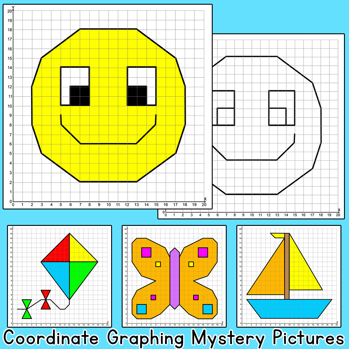 Coordinate Graphing Ordered Pairs Mystery Pictures Bird