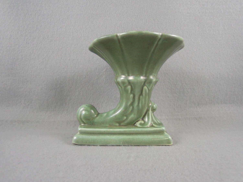 Camark pottery vase cornucopia green camark art pottery camark pottery vase cornucopia green reviewsmspy