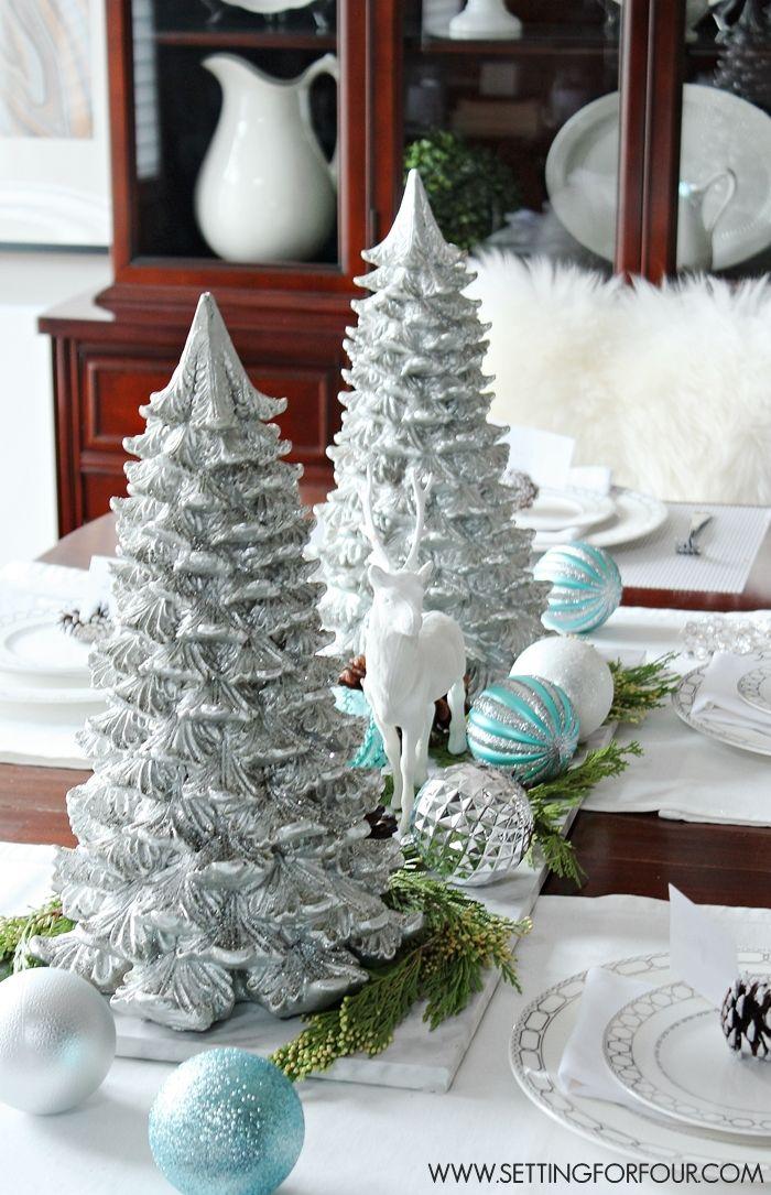 Winter woodland glam christmas centerpiece