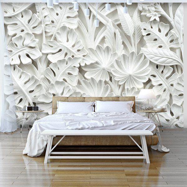 tapeten fototapete 400x280 bl tter f b 0038 a a ein designerst ck von design4art bei dawanda. Black Bedroom Furniture Sets. Home Design Ideas