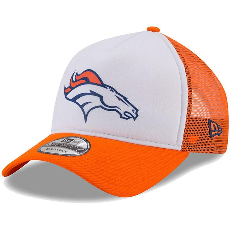 huge selection of 56a53 d35e2  Fanatics.com -  New Era Denver Broncos New Era Trucker Hit 9FORTY  Adjustable Hat - White Orange - AdoreWe.com