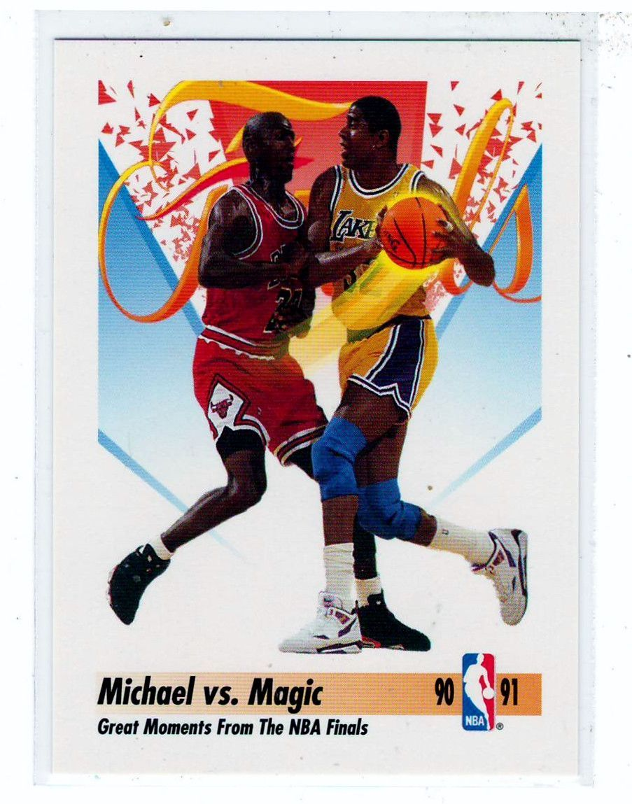 Sports Cards Basketball 1991 Skybox Michael vs Magic