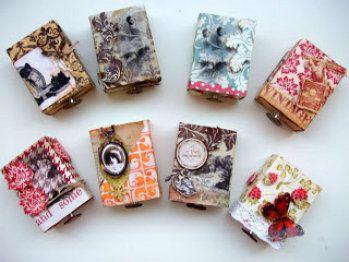 Idea con cajas de cerillas decoradas