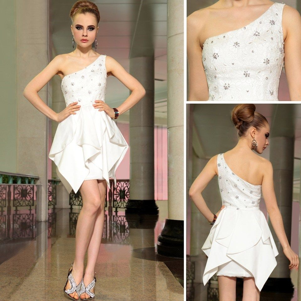 The formal shop cocktail dress white bling