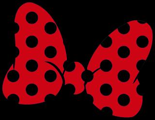 lazo de color rojo y negro para imprimir lazo minnie mouse para