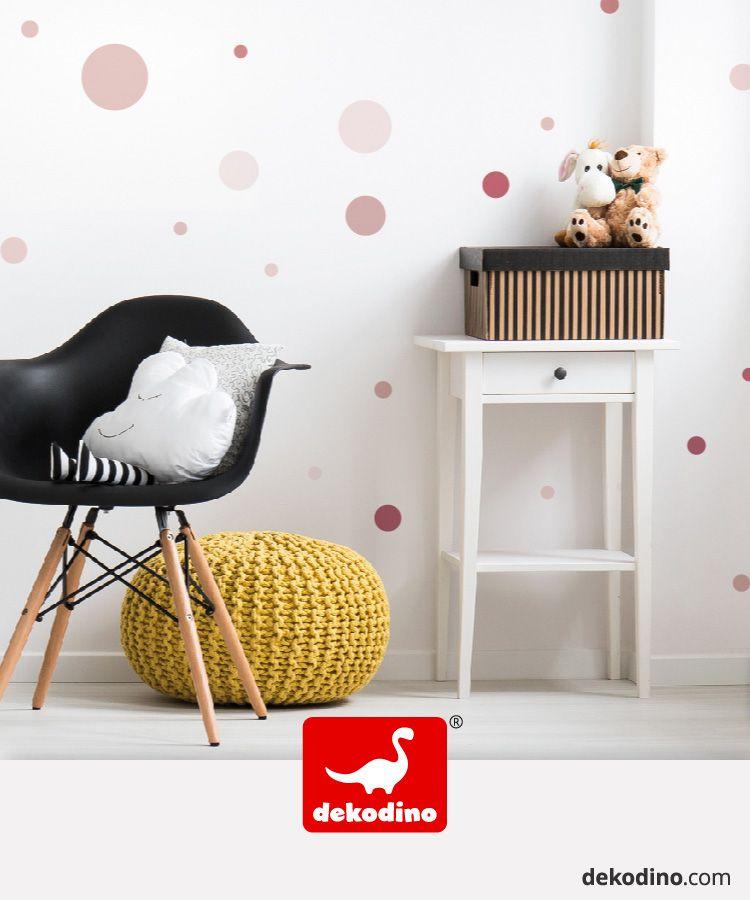 Wandtattoo Punkte Set In Altrosa Coole Musterungen Fur Das Madchenzimmer In 2020 Wandtattoo Punkte Haus Deko Babyzimmer Wandgestaltung