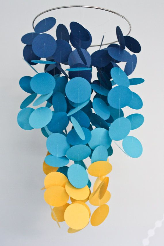 Cascading paper circle mobile