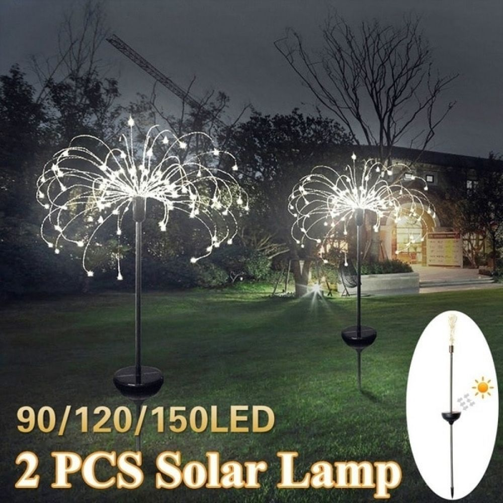 Solar Powered Outdoor Grass Globe Dandelion Lamp 90 120 198 Led For Garden Lawn Landscape Lamp Holiday Light Price 22 36 Free Ship