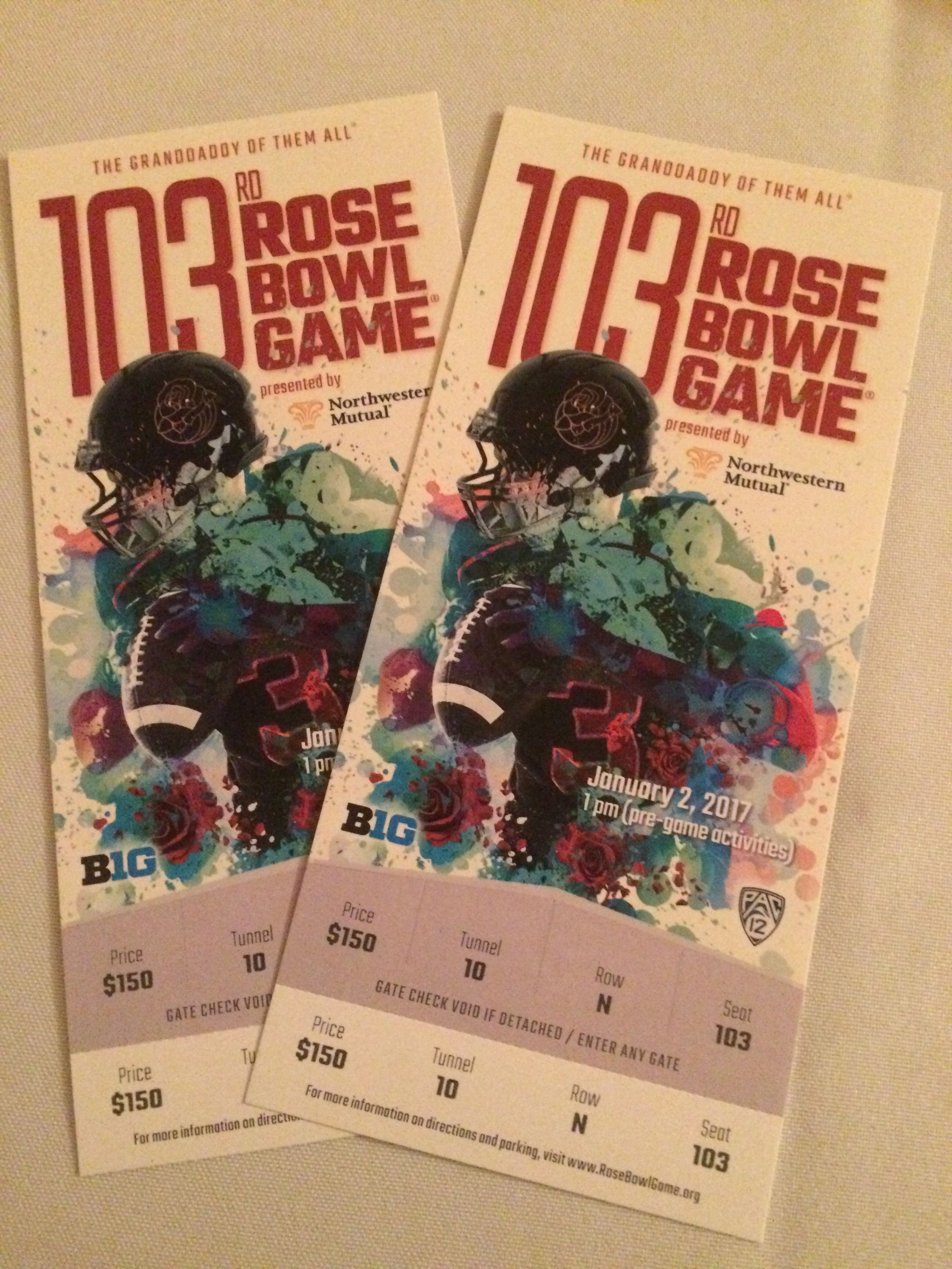 Rose Bowl 2017 Front Row Seats So Very Excited Fight On