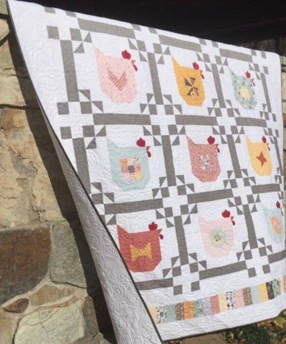 Chicken Scratch Quilt Pattern by Poppie Cotton Des