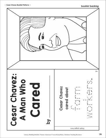 Literacy Building Booklet Cesar Chavez Printables Teaching