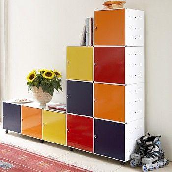 Basic White Cube QBO A Modular Metal Cube Storage System.