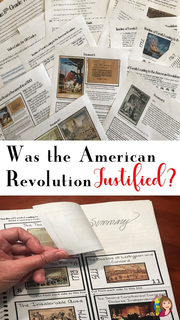 was the american revolution justified