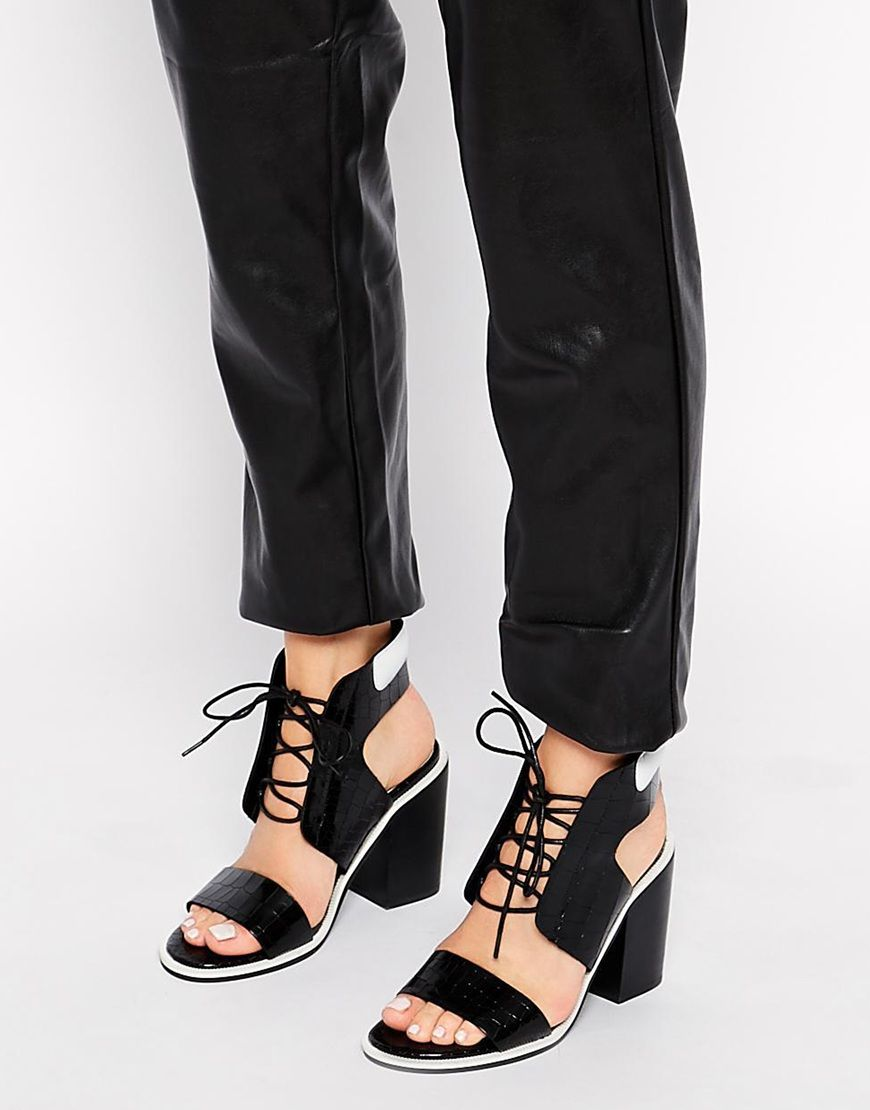 Buy Women Shoes / Senso Riley Black Leather Heeled Sandals