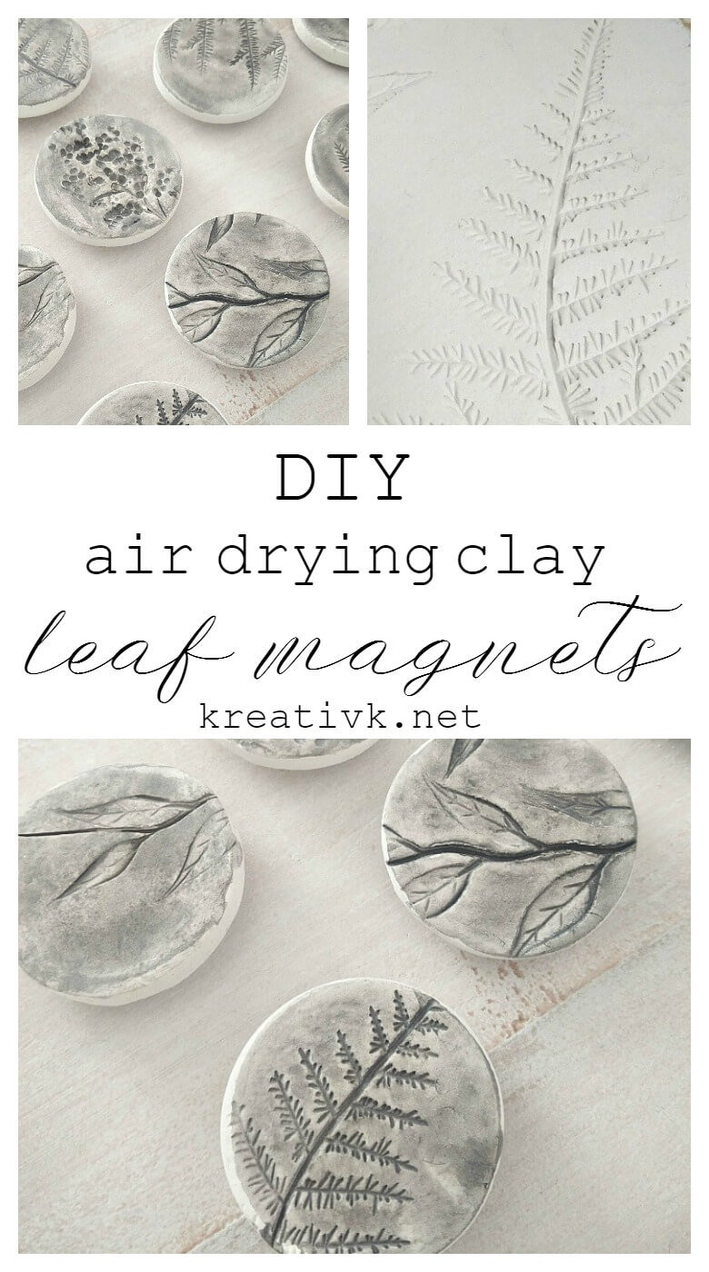 Photo of DIY Air Drying Clay Leaf Magnets – Northern Feeling