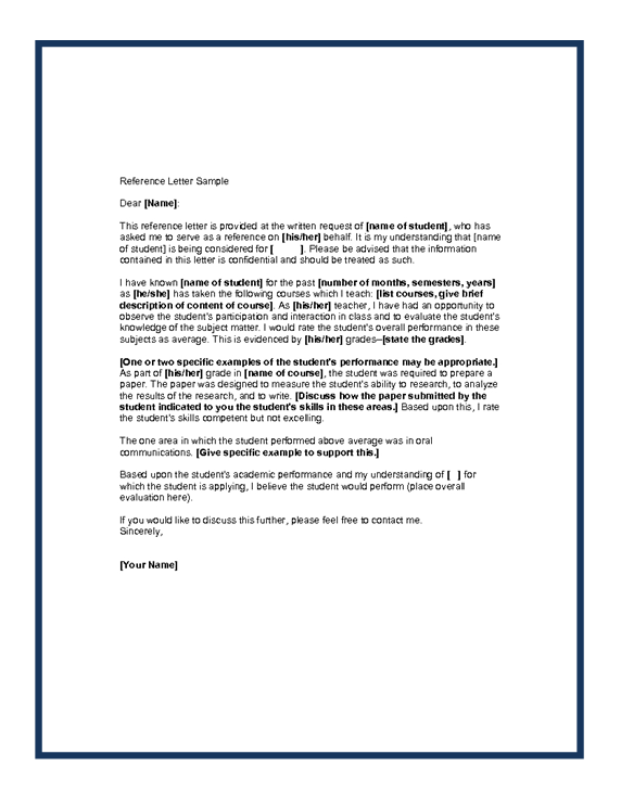 Sample Of A Reference Letter Reference Letter Letter Of Recommendation Professional Reference Letter