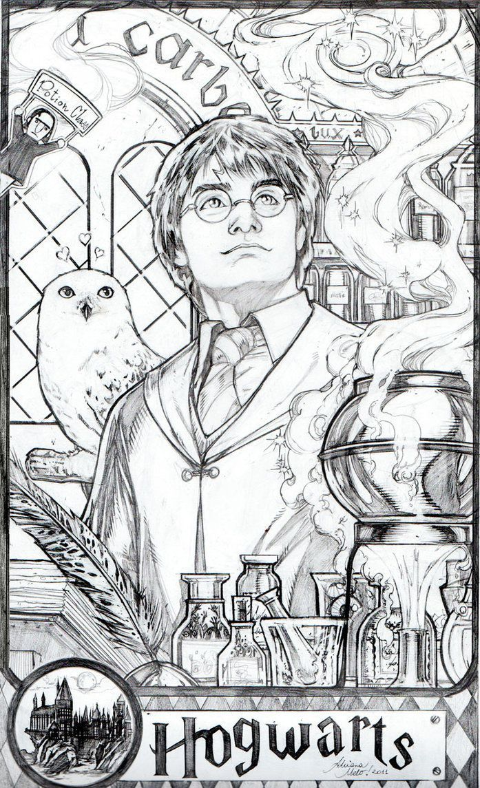 Adrianamelo S Deviantart Gallery Adrianamelo Adrianamelos Deviantart Gallery In 2020 Harry Potter Sketch Harry Potter Coloring Book Harry Potter Coloring Pages