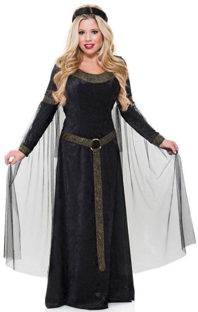 f927f5912ff41 Renaissance Princess Maiden Lady Costume Dress Camelot Queen Guinevere  Medieval  Charades  Dress