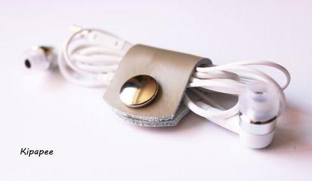 range cordon, câble, ruban, fil en cuir beige  : Autres sacs par kipapee