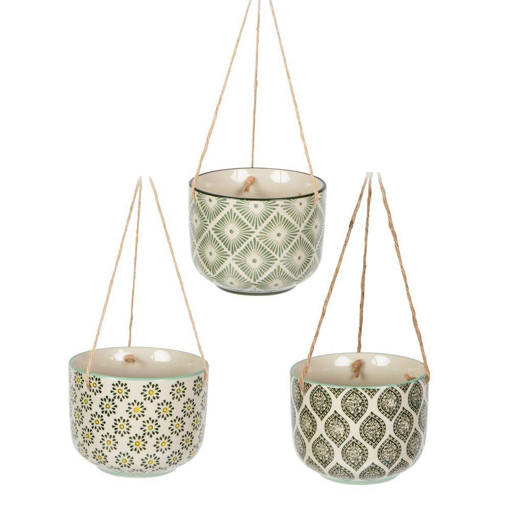 Details about ceramic hanging flower plant pot planter