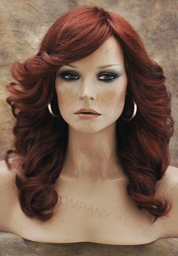 Farrah Fawcett Glamorous New Big Open Wavy Copper Red Wig Medium