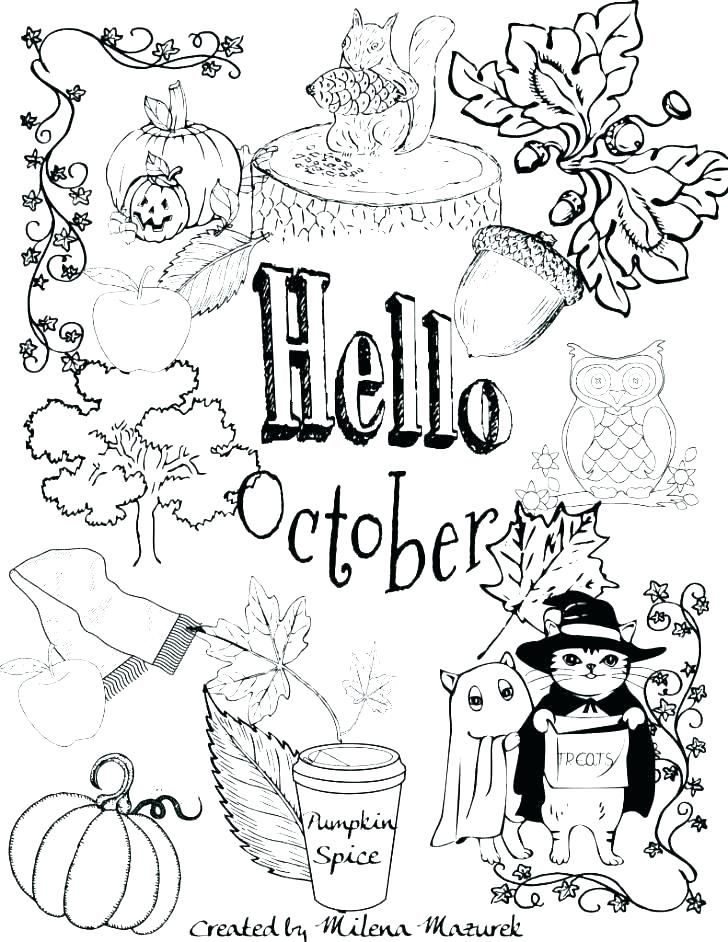 October Coloring Pages Coloring Pages Printable Coloring