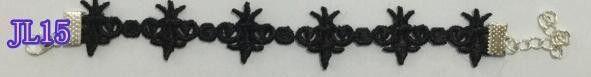 Simple Black Lace Bracelet