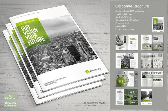 Business Brochure by MrTemplater on @creativemarket free brochure - business pamphlet templates free
