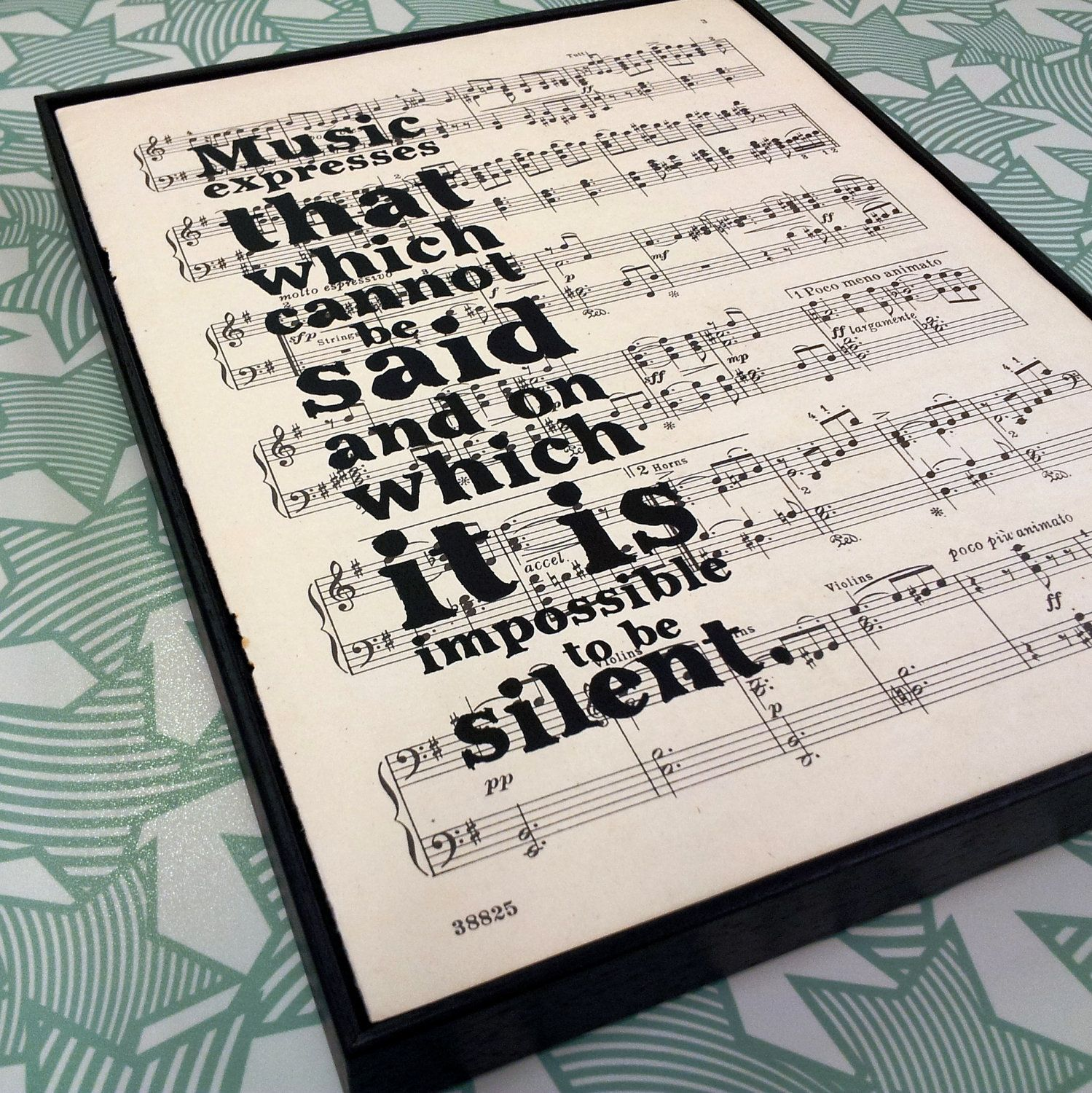 Inspirational Music Quotes Entrancing Reserved Inspirational Music Quotevictor Hugo Typographic Framed . Decorating Inspiration
