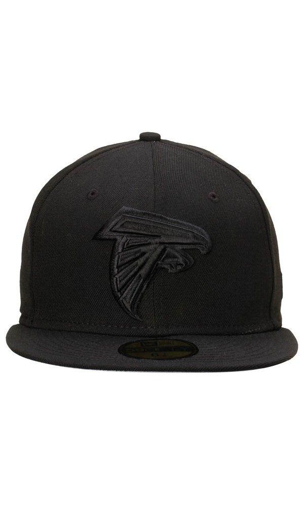 NFL Men s Atlanta Falcons New Era Black Tonal 59FIFTY Fitted Hat  SB51   superbowl2017 3e48f05a6