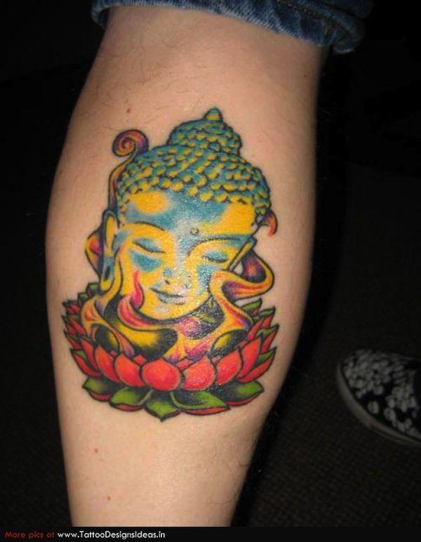 Tattoo Bouddha Et Fleur De Lotus Sur L Avant Bras Tatouage Fleur