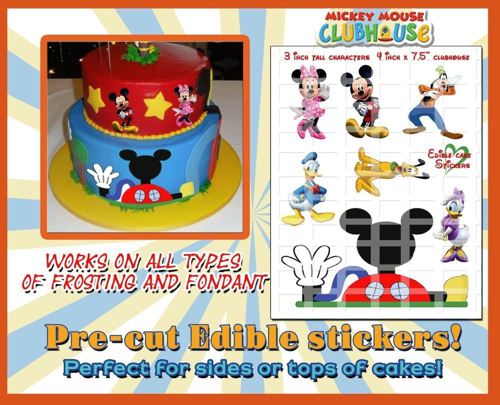 Edible Mickey Mouse Heads decoration Birthday Cake Topper Cupcakes