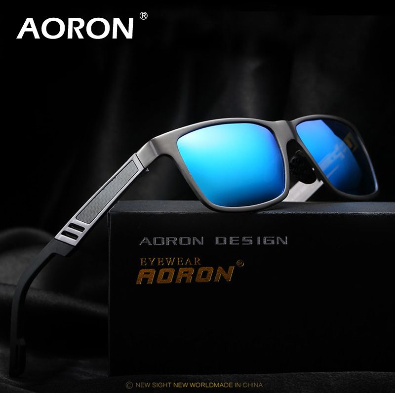 1c86aff20ac Aluminum Magnesium Rectangle Mens Sunglasses Men Polarized Colorful Coating  Mirror Sun Glasses Male Fishing Driver Shades
